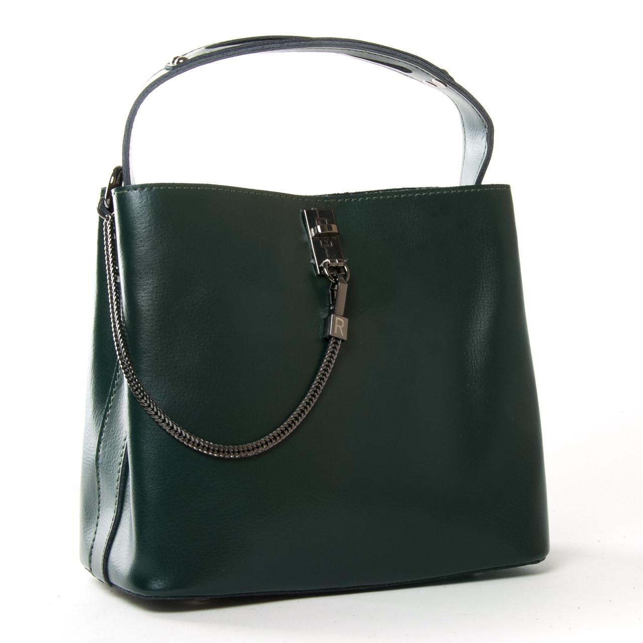 Сумка Женская Классическая кожа ALEX RAI 9-02 8703 green