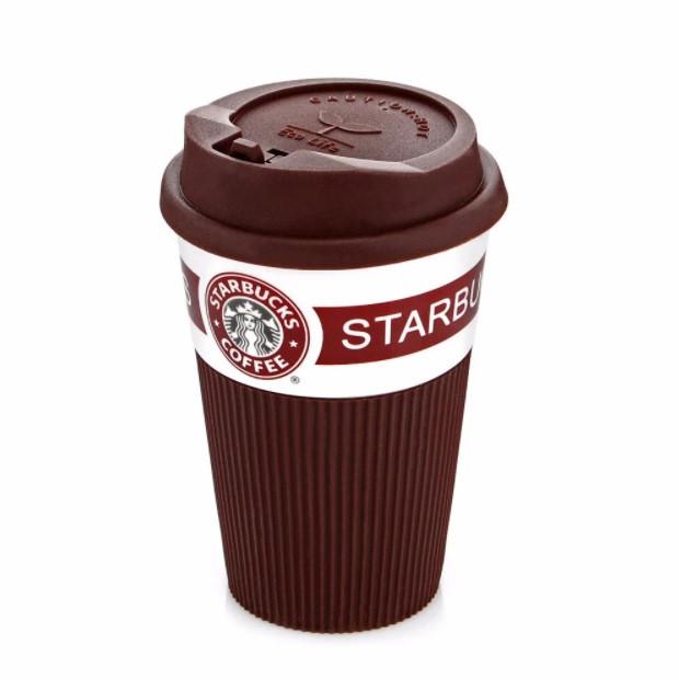 Термокрука керамическая Starbucks 008 коричневая