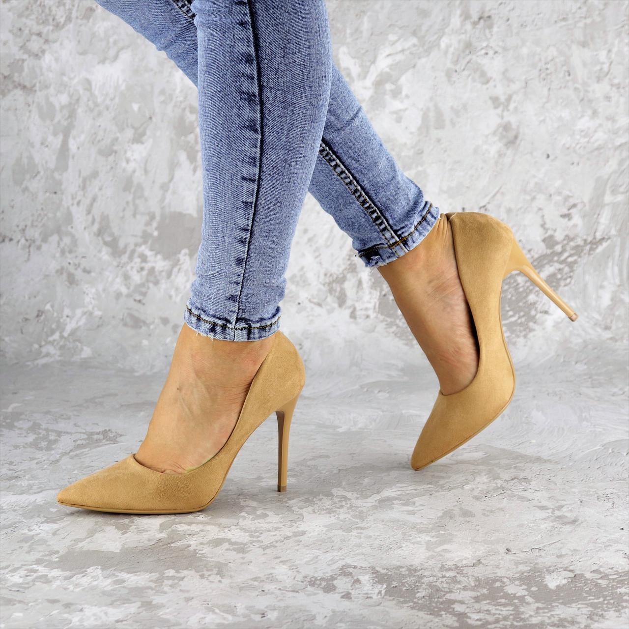 Туфли женские на каблуке Fashion Gram 2262 36 размер 23 см Бежевый