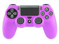 Опт. Силиконовый чехол для Sony Playstation 4 Фиолетовый