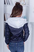 """Комбинированная женская куртка-ветровка """"FEST"""" с капюшоном, фото 2"""