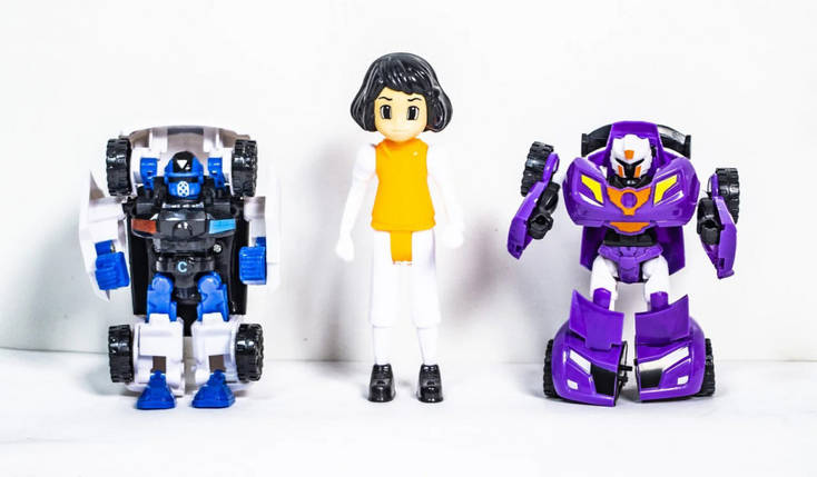 Игровой набор фигурок Тобот 339-15, 3 фигурки в наборе ( 339-15(Orange)), фото 2