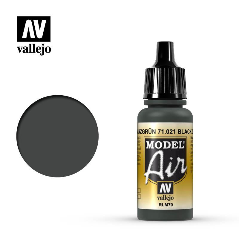 Черно-зеленый. Краска акриловая 17мл. VALLEJO MODEL AIR 71021