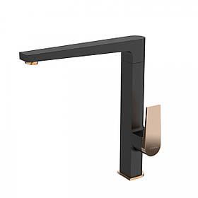 Змішувач для кухні Invena Midnight BZ-35-014 чорний/золотий