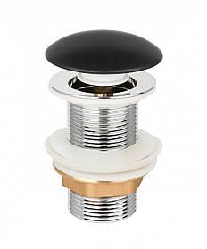 Донний клапан Invena, click-clack, чорний, матовий, керамічний грибок SC-B1-CBP