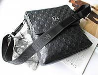 Мужская кожаная сумка Louis Vuitton черная, фото 1