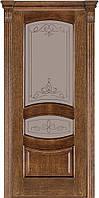 Двері міжкімнатні Terminus Модель 50 Дуб браун, скло 13, 60см