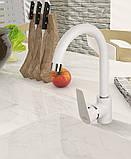 Змішувач для кухні Invena Dokos BZ-19-002 білий, фото 2