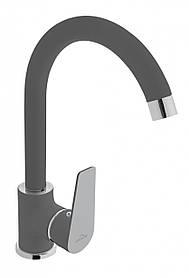 Змішувач для кухні Invena Dokos BZ-19-005 графіт\хром