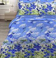 Комплект хлопкового постельного белья Бязь Голд евро