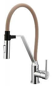 Змішувач для кухні Invena Magnetic BZ-30-L03 кавовий