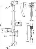 Душовий набір Invena Tetis AU-44-001, фото 2