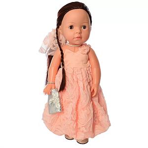 Кукла для девочек в платье M 5413-16-2 интерактивная (Pink)