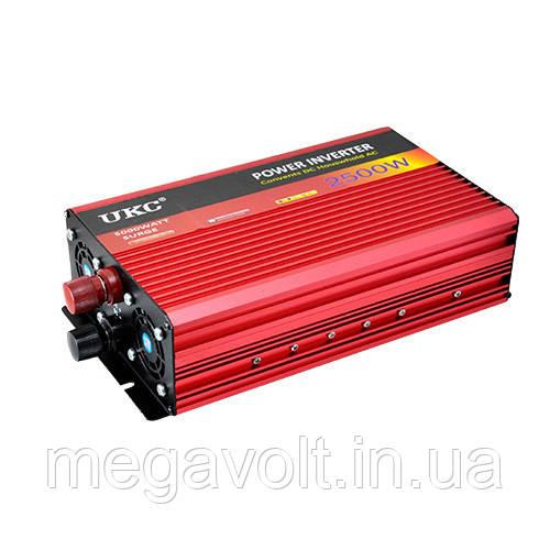 Инвертор. Преобразователь напряжения 12v-220v 2500W UKC
