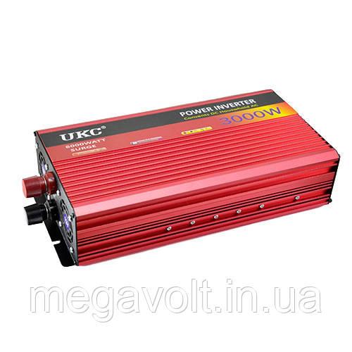 Инвертор. Преобразователь напряжения 12v-220v 3000W UKC