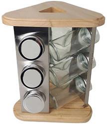 Набор для специй на подставке Stenson MS-3504, 9 стеклянных емкостей
