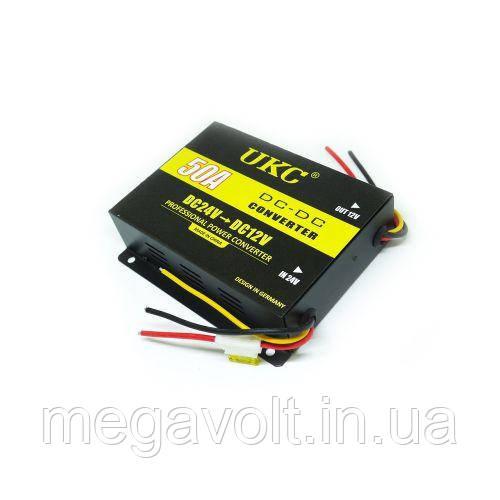 Преобразователь напряжения (инвертор) 24v-12v 50A UKC