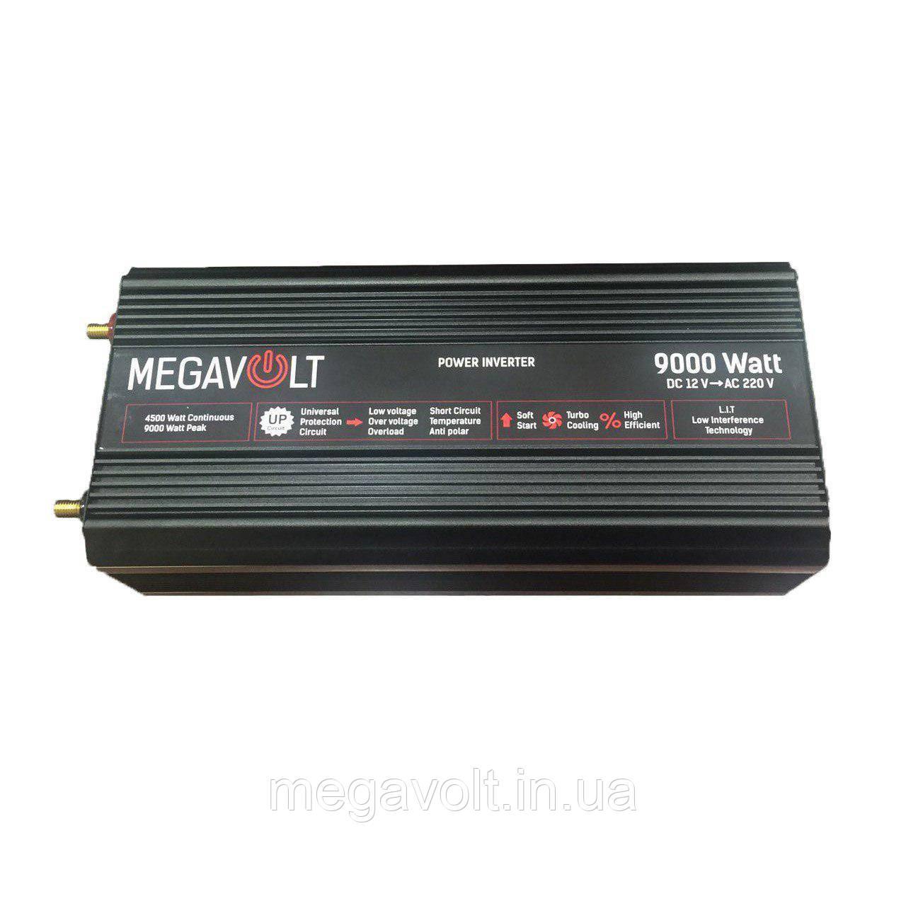Преобразователь напряжения (инвертор) 12v-220v 9000W LED экран MEGAVOLT