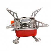 Портативная газовая плита с пьезоподжигом k-202 (красная)