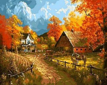 Картина по номерам 40×50 см. Mariposa Сельский пейзаж Художник Abraham Hunter (Q 1399)