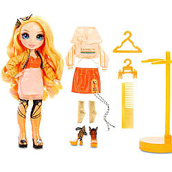 Кукла Радуга Рейнбоу Хай Поппи Роуэн Rainbow Surprise Rainbow High Poppy Rowan оранжевая