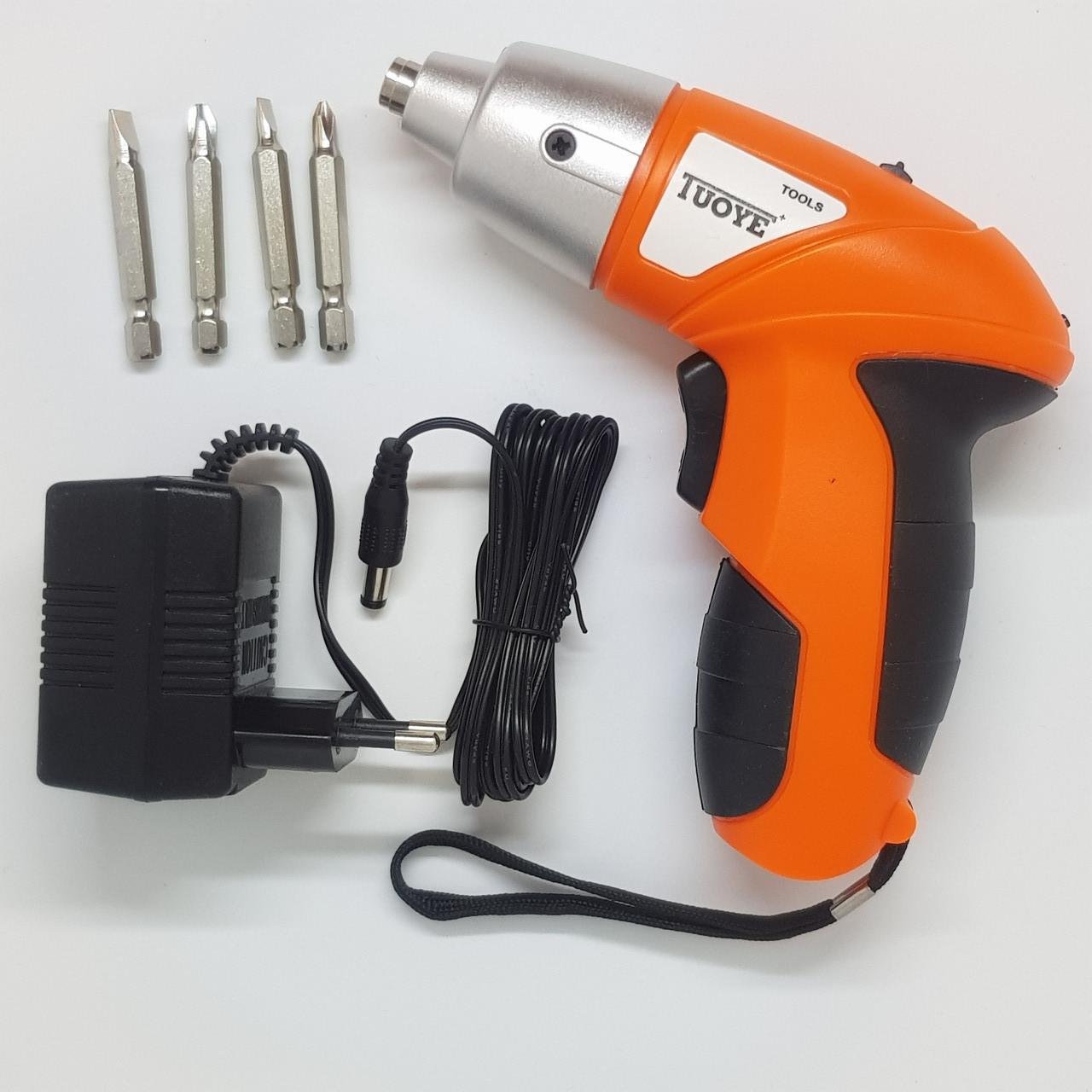Компактный аккумуляторный шуруповерт беспроводная электрическая отвертка Tuoye
