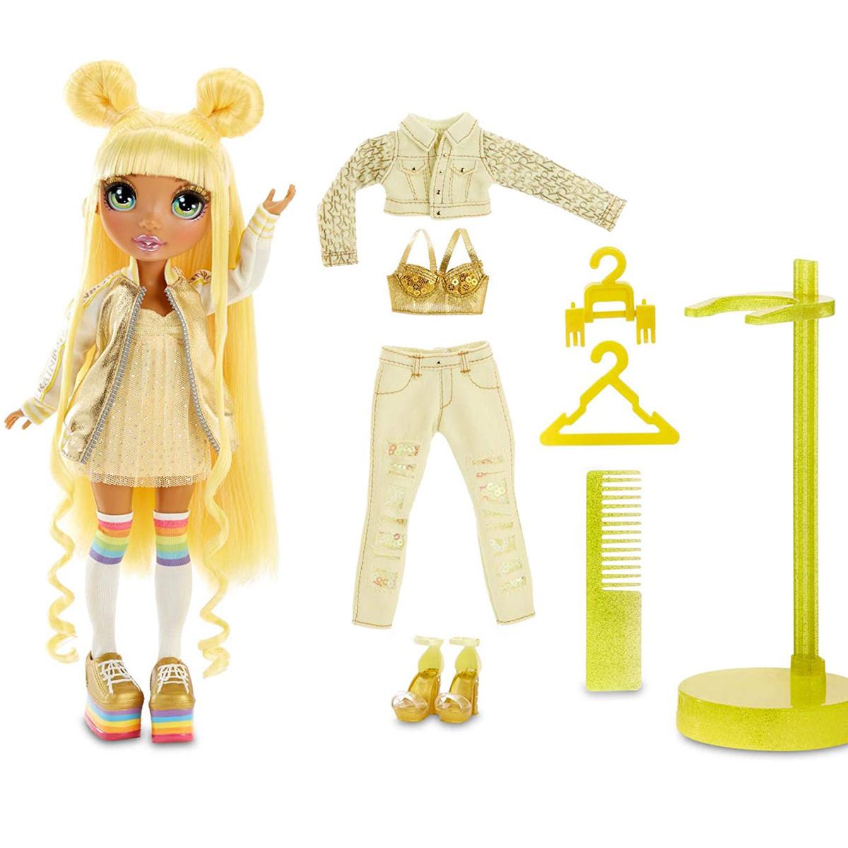 Кукла Радуга Рейнбоу Хай Санни Медисон Rainbow Surprise Rainbow High Sunny Madison Желтая
