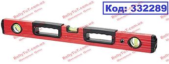 Уровень алюминиевый, 1000 мм, фрезерованный, 3 глазка, 2 эргономичные ручки MTX (332289)