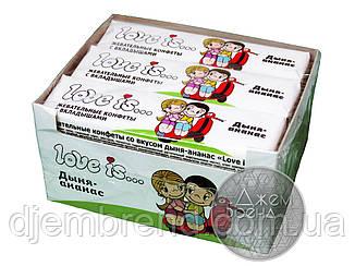 Жевательные конфеты Love Is - новые вкладыши, дыня-ананас