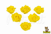 Роза желтая из фоамирана (латекса) 4,5 см 10 шт/уп