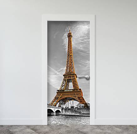 Виниловая наклейка на двери (самоклеющаяся ламинированная пленка ПВХ) 200 х 65 см, фото 2