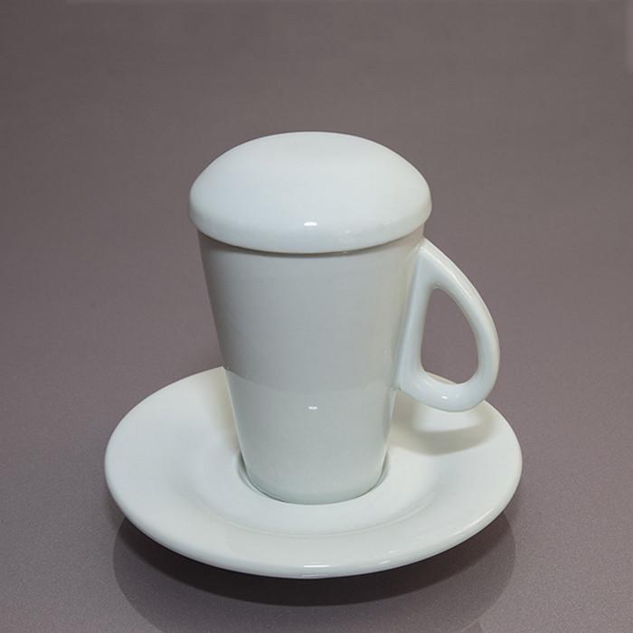 Чашка с крышкой, с блюдцем (60 мл)  F2773+F2774