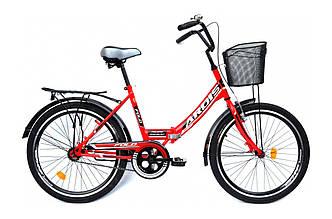 """Велосипед складной ARDIS FOLD с корзиной СК 24"""" Красный"""