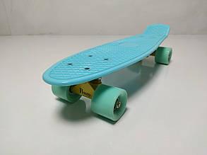Пенни Борд Penny Board 22Д  Бирюзовый цвет Матовые колеса
