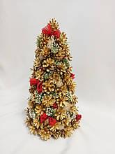 Елка новогодняя декоративная Из золотых шишек 25х50 см