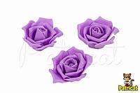 Роза светло-фиолетовая из иранского фоамирана, диаметр 4,5 см 10шт/уп