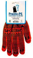 Перчатки трикотажные с ПВХ покрытием, универсальные. № 110 оранжевые