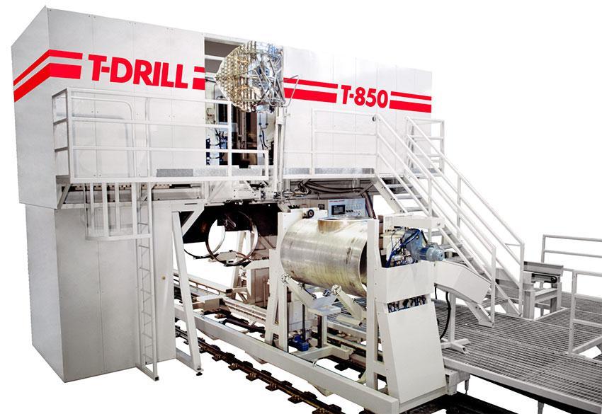 Станок T-850 T-DRILL для вытяжки горловин в трубах