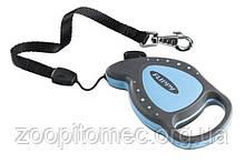 Поводок-рулетка Flippy Delux mini трос до 3 м, до 8 кг.