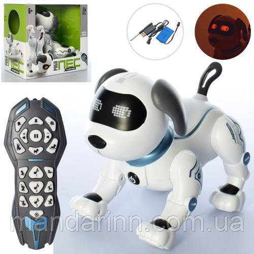 Собака RC 0004 р/у, сенсорна 20см, аккум, муз, звук,світло, танцює, виконує команди, реагує на голос