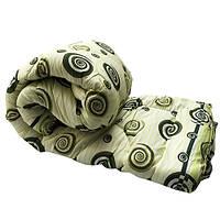 Одеяло Lotus flower холлофайбер 175/210 зелёные круги
