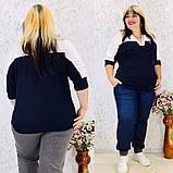 Женская блуза легкая блузка свободного фасона V образный вырез размер: 50, 52, 54, 56-58, фото 9