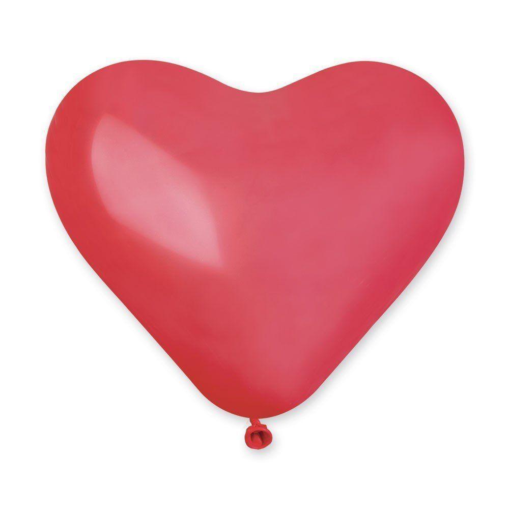 """И 10"""" Воздушные шары латексные сердца кристалл красное"""