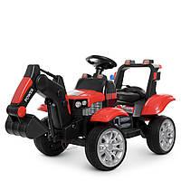 Детский электромобиль Трактор с пультом (2 мотора по 35W, 2аккум, MP3, TF, USB) Bambi M 4263EBLR-3 Красный