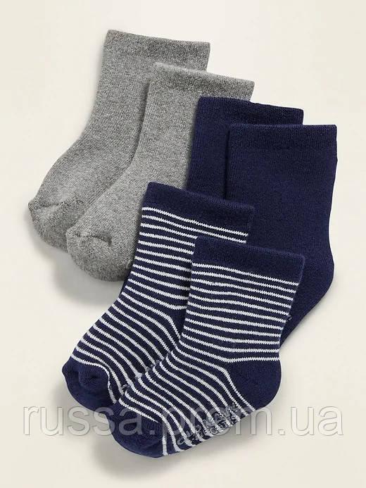 Набор детских махровых носочков 3 пары Олд Неви для мальчика