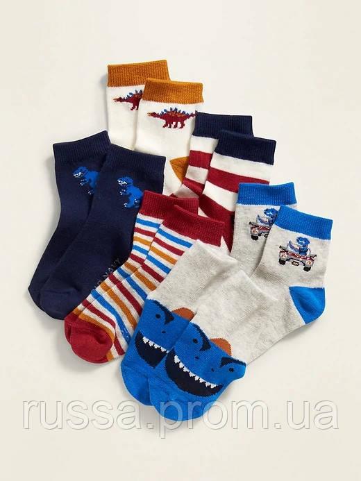 Набор детских носочков 6 пар Дино Олд Неви для мальчика