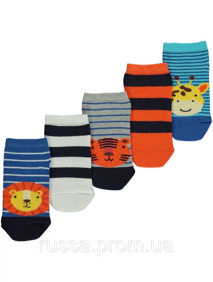 Набор детских заниженных носочков 5 пар Сафари Джордж для мальчика
