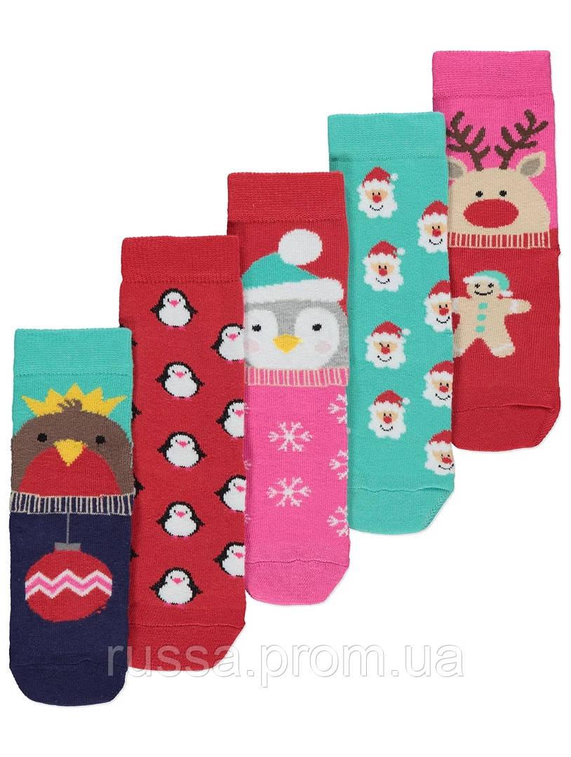 Набор новогодних детских носочков 5 пар Джордж для девочки