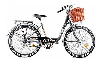 """Жіночий міський велосипед Ardis Lido CTB 26"""" 16"""" Сірий"""