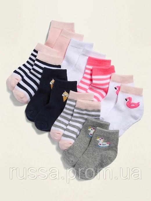 Набор детских носочков 8 пар Олд Неви для девочки